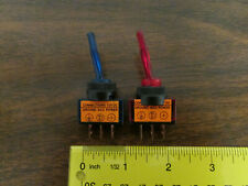 Pair Paddle Toggle Switches Panel Mount Red & Blue 12VDC New