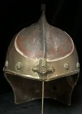 Antique Helmet Brass Overlay Plume Holder w/ Small Repair. 18th Century