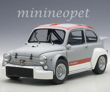 AUTOart 72641 FIAT ABARTH 1000 TCR 1/18 DIECAST MATTE GREY with RED STRIPES