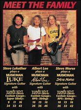 Steve Morse Lukather Albert Lee Signature Ernie Ball Music Man Guitar ad print