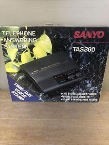 NOS Sanyo Answering Machine TAS 360 Beeperless VOX Dual Standard Cassette