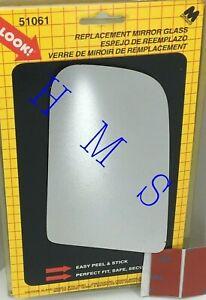 MOTOMITE DORMAN 51061 LEFT SIDE MIRROR GLASS FITS BUICK OLDSMOBILE PONTIAC