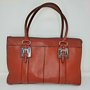 Wilson Leather Womens Bag Briefcase Red Computer Section Work Legal