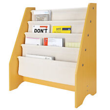 Wood Kids Book Shelf Sling Storage Rack Organizer Bookcase Display Holder Gifts