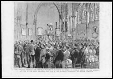 1888 antique print-Kent ROCHESTER Cathedral Waterloo Memorial Windows (91)