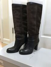 Jessica Simpson Dark Brown Heeled Boots - Suede And Leather