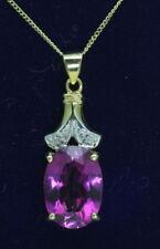 Collares y colgantes de joyería naturales amatista diamante