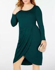 Soprano Womens Plus Sz Hunter Green Trendy Tulip-Hem Dress  Sz 2X  $59 TINI {&}