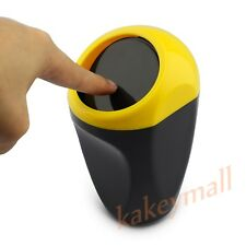 Vehicle Car Trash Garbage Bin Home Can Rubbish Crap Dust Case Cup Holder Yellow