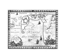 Antica mappa, ichnographia CASTELLI Pillau ET adiacentium locorum anno 1656