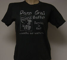 NEW Girls Juniors DAVID & GOLIATH Dum Gai Chinese Buffet Charcoal Gray T-Shirt