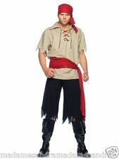 PIRATE COSTUME MALE PARTY OUTFIT Fancy Dress Cutthroat MS1820. men's costumes