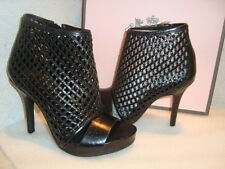 Juicy Couture Womens NWB Nyda Black Crinkly Nappa Heels Shoes 6 MED NEW