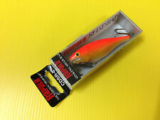 Rapala Countdown Sinking Shad Rap CDSR-8 GFR, Gold Fluorescent Red Color, NIB.