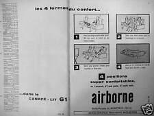 PUBLICITÉ AIRBORNE LE CANAPÉ-LIT 4 POSITIONS SUPER CONFORTABLES