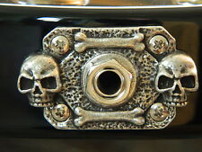 SKULL JACK COVER PLATE fits BC RICH WARLOCK GUITAR ! Rectangle shaped metal!