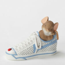 Charming Tails Mouse in Sneaker Dreams figure 4033018 New Enesco Nib