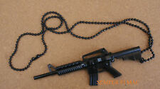 M16 ASSAULT RIFLE CHAIN US ARMY AIR FORCE NAVY MARINES USCG M-16 PIN NECKLACE
