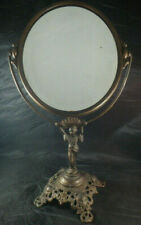 "Vtg Golden Mfg Chicago Art Nouveau Style Metal Vanity Mirror - 18.5"" Tall"