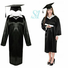 Unisex Adult Graduation Robe+Mortar Hat Costume Gown Robe Fancy Dress  Outfit UK cf0c5b6ca