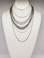 VINTAGE & MODERN LOT OF 15 STERLING SILVER CHAIN NECKLACES #002