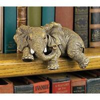 Ernie The Elephant Shelf Sitter Design Toscano Exclusive Hand Painted Sculpture
