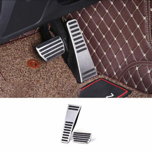 Fit For Volvo XC60 2018-2021 Steel Silver Accelerator Brake Pedal Cover Trim 2PC