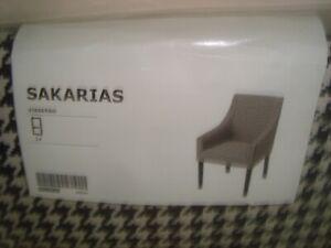 IKEA SAKARIAS Armchair Chair Cover VIBBERBO Black White Slipcover 704.635.82 NEW