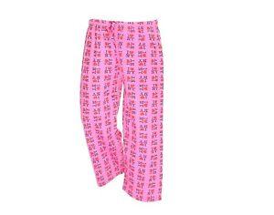 I Love NY New York Lounge Pants Heart Pajama Bottoms Pink