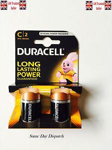 Original 2 x Duracell C 1.5v Alkaline Battery Batteries C 2 MN1400 LR14
