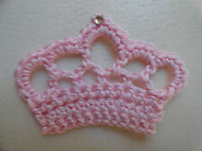 Crochet Princess Crown Scrapbooking / Applique / Sew on / Craft / Embellishment