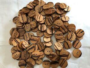 gros lot de boutons en bois neufs pour couture,20mm