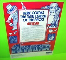 Stern AMIDAR Original 1982 NOS Video Arcade Game Promo Sales Flyer Advertising