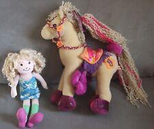Lot of GROOVY GIRLS  Plush Rag Doll  BRITTA & CALYPSO CALLIE Horse  LN