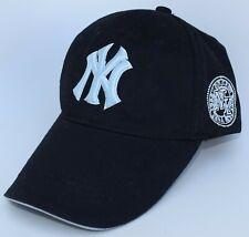 New York NY Yankees MLB Baseball Cap Hat Adjustable Strapback Black Structured