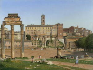 Christoffer Wilhelm Eckersberg View of the Forum in Rome Giclee Canvas Print