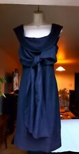 Ted Baker Gather Neck Bow Silk and Linen Dress Size 2 UK 10