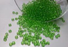 50 perles en verre ronde 4mm vert //2