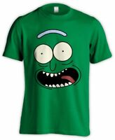 PICKLE RICK FACE FROM RICK AND MORTY FUNNY ADULT SWIM SCHWIFTY TSHIRT GREEN TEE
