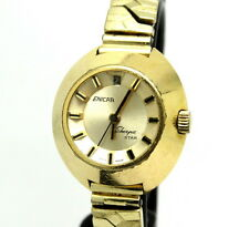 Ladies Vintage ENICAR SHERPA STAR Gold Toned Swiss Automatic Incabloc Watch 765