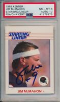 Jim McMahon Signed 1988 Kenner Starting Line Up Card PSA 8 Auto 10 Chicago Bears
