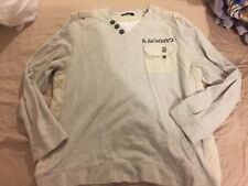 GEORGE MENS XL BEIGE COTTON Long SLEEVED TOP (EX COND)