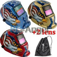 pro Solar Auto Darkening Welding Helmet Arc Tig Mig Mask Grinding new