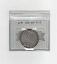 **1906**,Coin Mart Graded Canadian Silver 50 Cent, **F-12**