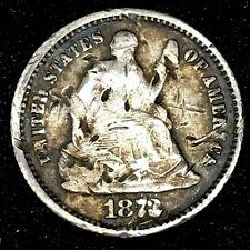 1873/1872 -?? - Seated Liberty Half Dime U.S.1/2 Dime Silver Coin #3