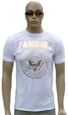 Amplified Ramones Hey Ho Let's Go Vintage Oro Stampa Rock Star Vip T-Shirt. S/M