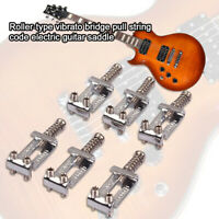 AU_ 6Pcs Roller Type Tremolo Bridge Pull String Saddle for Strat Electric Guitar