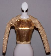 Barbie Doll Clothes Fashionista Life in the Dreamhouse Gold Metallic Top Shirt