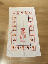 Girl's Embroidered Ballet Slippers Bath Sheet Towel Stacey **CUTE**