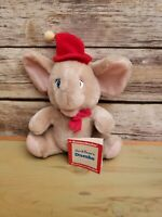 "Vintage Knickerbocker Rare Disney Dumbo Plush w/ Tag Stuffed Animal Toy 10"""